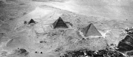 Aerial Photo of the Pyramids of Giza