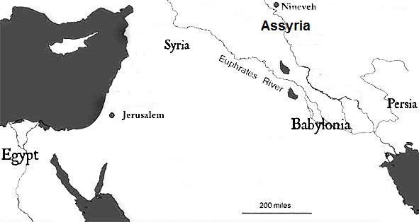 Map of ancient Assyria