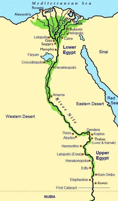 Map Ancient Egypt - Tanis
