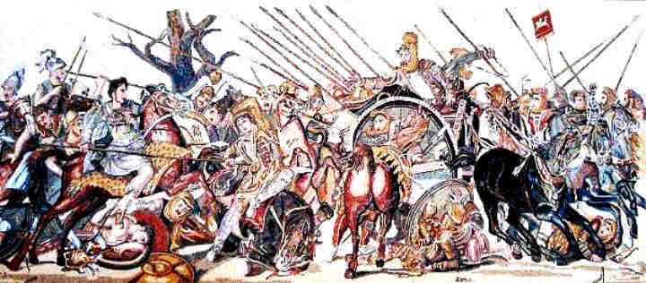 Battle of Issus between Alexander the Great and Darius III