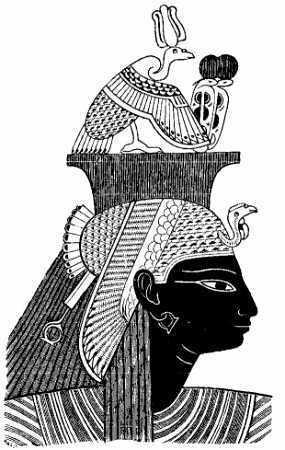 Nefertari wearing the ...