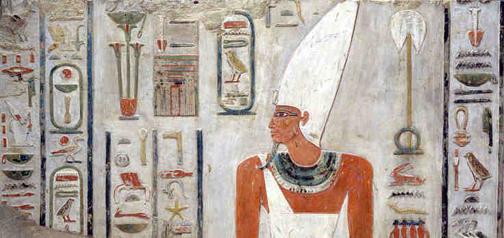 Hieroglyphs from tomb paintings of Mentuhotep II