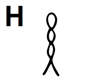 Hieroglyphic Symbol for the Letter H