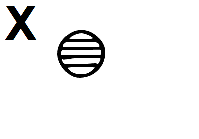 Hieroglyphic Symbol for the Letter X