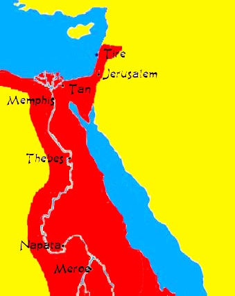 Nubia For Kids - Map of ancient egypt for students