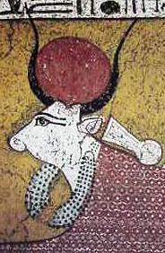 Menat necklace adorning Hathor the cow goddess