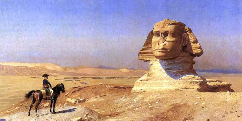 Napoleon Bonaparte and the Great Sphinx